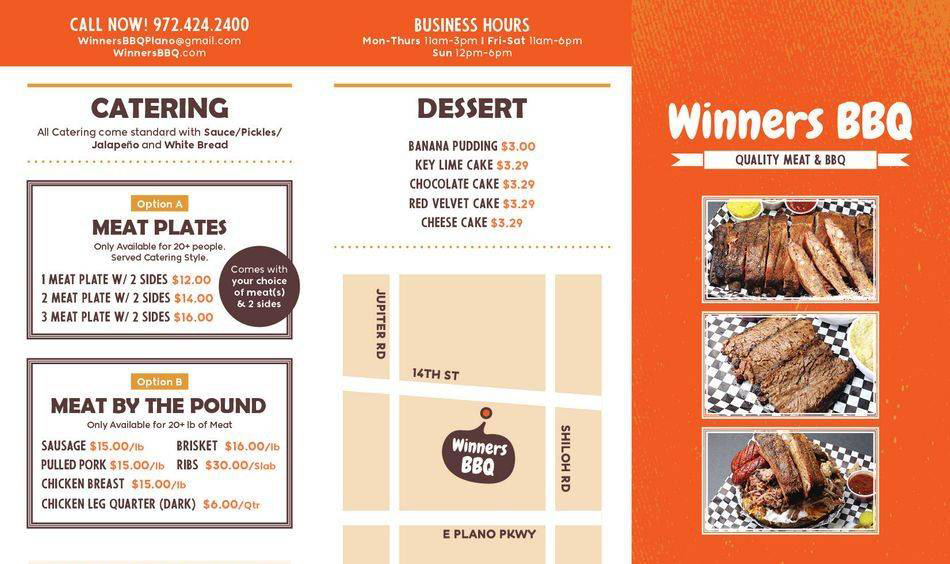 Winners BBQ Menu 2